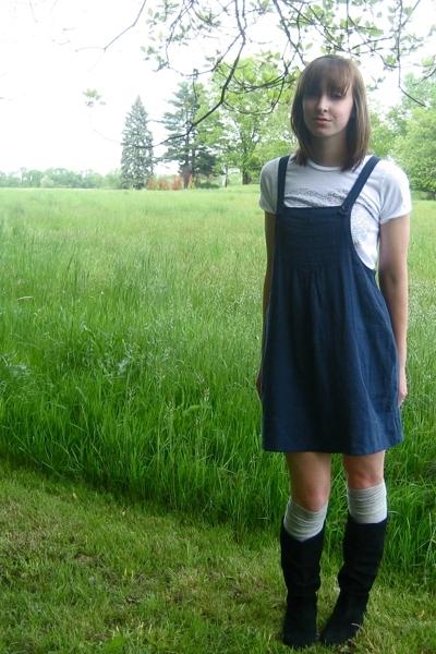 forever 21 dress - forever 21 shirt - Steve Madden boots - Target socks