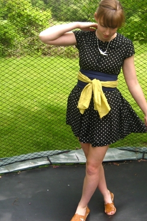 forever 21 dress - vintage belt - Urban Outfitters shoes