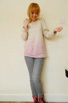 eggshell Topshop jumper - bubble gum pink leather doc martens boots