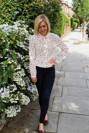 jaeger blouse - Topshop jeans