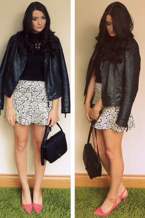 Miss Selfridge jacket - Forever 21 bag - Primark heels - Primark jumper