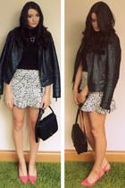 Miss Selfridge jacket - Forever 21 bag - Primark heels - Primark jumper