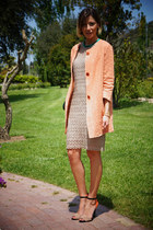 light orange Soho de luxe coat - gold Merc dress