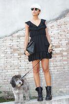 black ASH boots - black Diesel dress