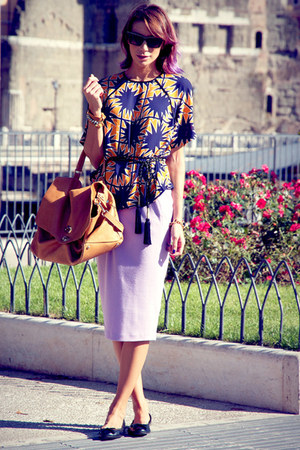 gold asoscom blouse - gold Postina by Zanellato bag