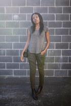 Yves Saint Laurent boots - Chanel bag - Transit Par-Such pants