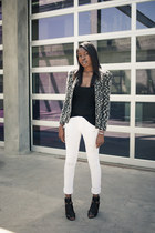 Black Orchid jeans - Isabel Marant jacket - Zara top - Elizabeth and James heels