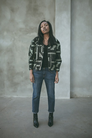 Isabel Marant jacket - Saint Laurent boots - Current Elliott jeans