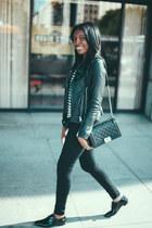 SWORD jacket - Yves Saint Laurent shoes - J Brand jeans - Chanel bag