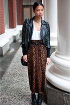 black vintage jacket - black sam edelman boots - black brenda Alexander Wang bag