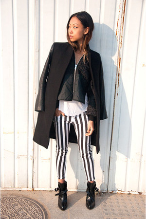 black Zara jacket - black THP jacket - black Zara boots