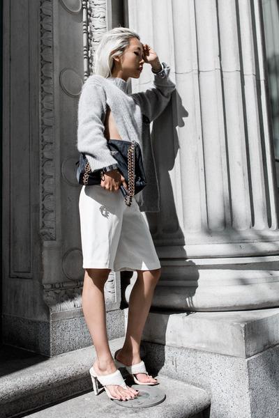 Yesstyle sweater - navy Prada bag - white Charlie May shorts