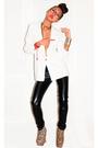 White-zara-blazer-black-rvca-pants-beige-ashish-for-topshop-boots