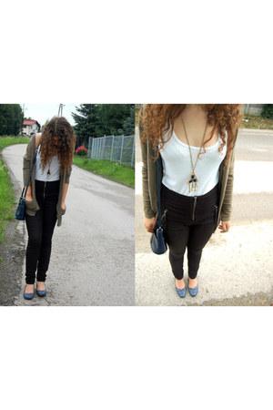 Vero Moda cardigan - Vero Moda pants - Stradivarius blouse