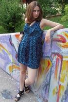 blue twelve by twelve dress - J Del Pozo bracelet