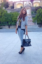 October jacket - pull&bear jeans - October blouse - Zara heels