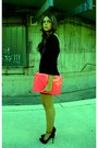 Shocking-pink-zara-bag-lbd-zara-dress-bershka-pumps