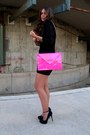 Lbd-zara-dress-shocking-pink-zara-bag-bershka-pumps