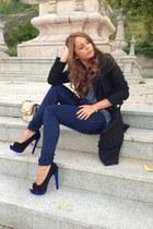 pull&bear jeans - peep toe Alex Silva heels - Tex t-shirt