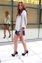 Zara sweater - Zara bag - Zara shorts - B ershka heels - vintage watch