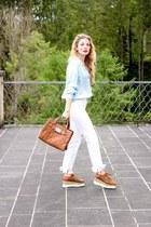 brown zaful shoes - white Zara jeans - brown Michael Kors bag