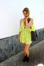 Charcoal-gray-aldo-boots-light-yellow-lovers-friends-dress