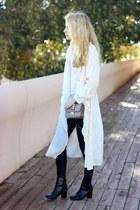 black H&M boots - tan Sheinside jacket - camel Valentino purse
