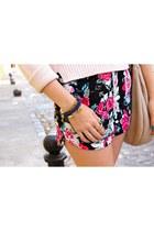 sky blue Forever 21 shorts - hot pink Forever 21 shorts - black Aldo boots
