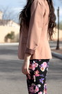 Light-pink-forever-21-blazer-light-purple-floral-forever21-pants