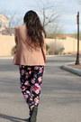 Light-pink-forever-21-blazer-light-purple-floral-forever21-pants