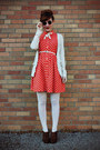 Dark-brown-oxford-heels-charlotte-russe-shoes-red-polka-dot-forever-21-dress