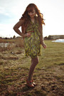 Olive-green-modcloth-dress-camel-merona-tights-bronze-thrifted-belt