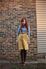 Dark-brown-tights-mustard-thrifted-skirt-tawny-thrifted-belt