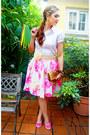 Hot-pink-ballerina-flats-soda-flats-white-collar-shirt-shirt