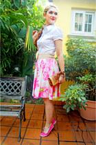 hot pink ballerina flats Soda flats - white collar shirt shirt