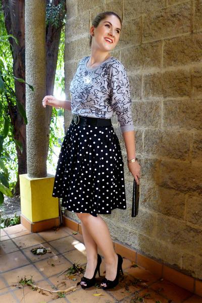 black polka dot dress Ralph Lauren dress - black clutch asos purse