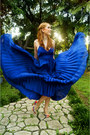 Blue-pleated-dress-asos-dress
