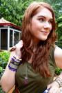 Olive-green-midi-dress-dress-deep-purple-floral-bag-tawny-forever-21-belt