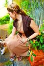 Camel-a-line-dress-forever-21-dress-dark-brown-blazer-jacket