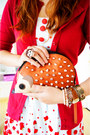 White-apple-print-dress-tawny-hedgehog-clutch-asos-bag