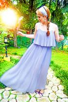 periwinkle Forever 21 dress - amethyst ballerina flats asos flats