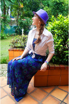 amethyst fedora hat Catani Hat hat - purple maxi dress kirra dress
