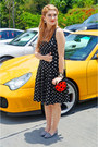 Red-ladybug-bag-asos-bag-black-polka-dot-dress-ralph-lauren-dress