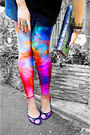 Black-forever-21-hat-blue-galaxy-leggings-black-milk-clothing-leggings