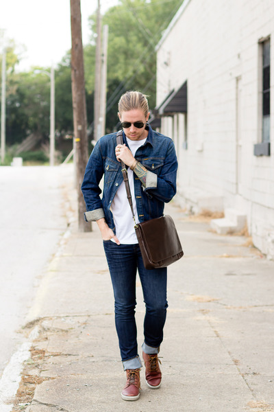 Fossil bag - ecco shoes - DSTLD jeans - Big star jacket - ray-ban sunglasses