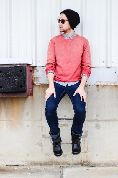 denim shirt Topman shirt - troopah2 Steve Madden boots - Reco jeans