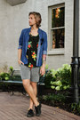 H-m-shirt-urban-outfitters-shorts-ray-ban-sunglasses-bdg-t-shirt