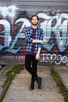mesh Topman t-shirt - Steve Madden boots - Kr3w jeans - WESC shirt