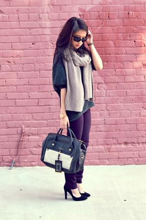 Paige Denim jeans - Theodora & Callum scarf - Prada sunglasses - Schutz pumps