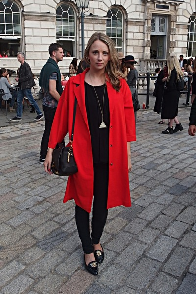 duster Fashion Union coat - Sophie Hulme bag